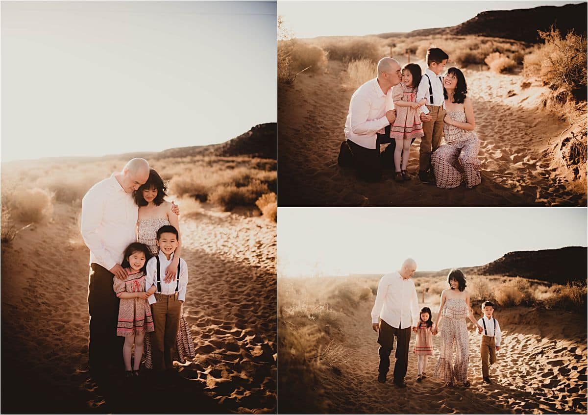 Sand Dunes Session Collage Family in Desert