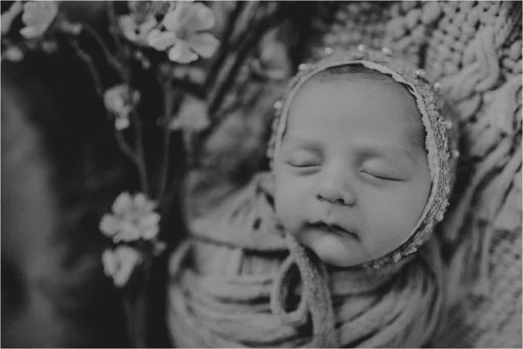 Black and White Close Up Newborn