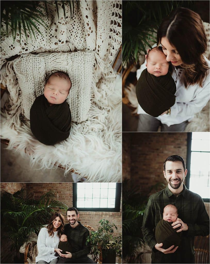 Collage Newborn with Parents