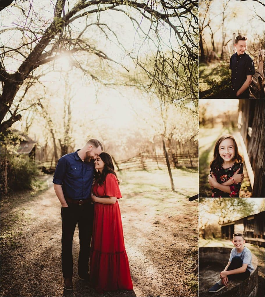 Rustic Family Session Portraits of Family