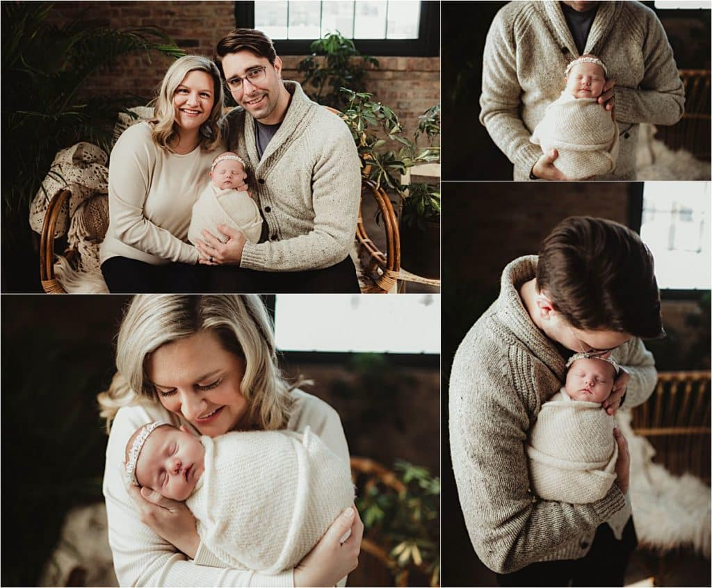 Collage Newborn with Family