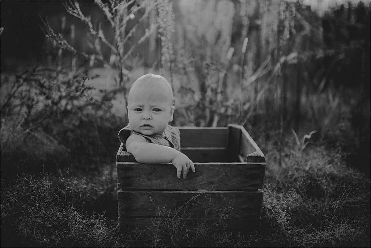 Black White Image Baby