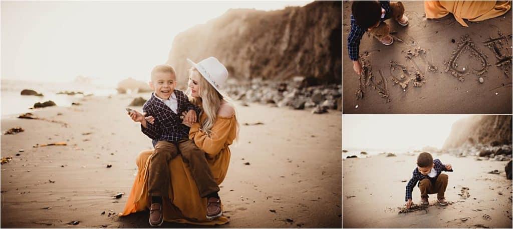 Mom and Boy on Beach