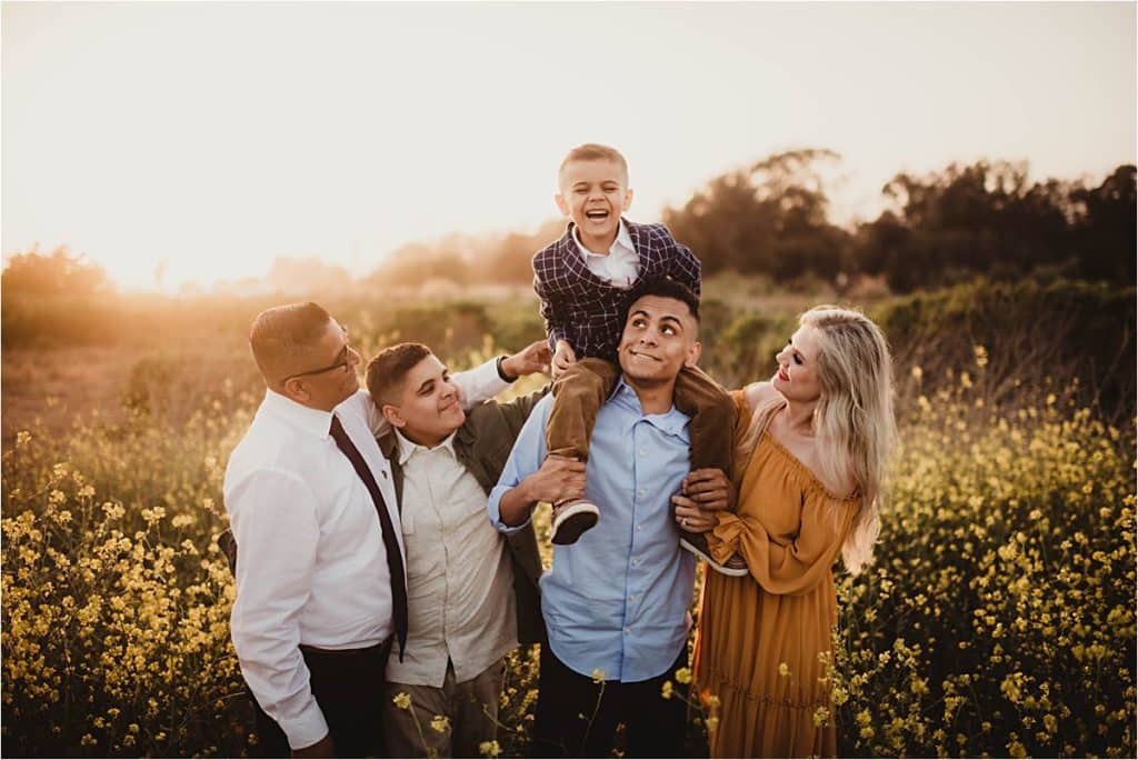 Family in Field