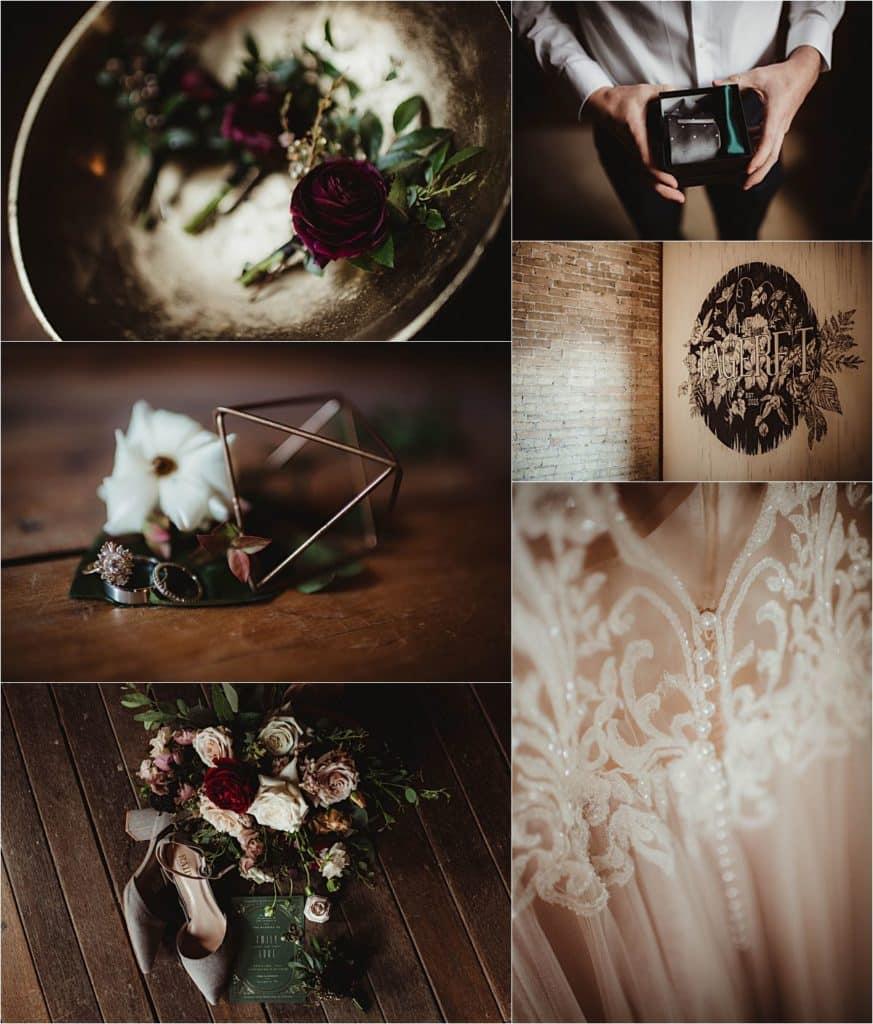 Romantic Spring Wedding Details Getting Ready