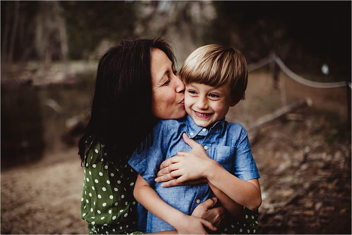 Mama Kissing Son's Cheek