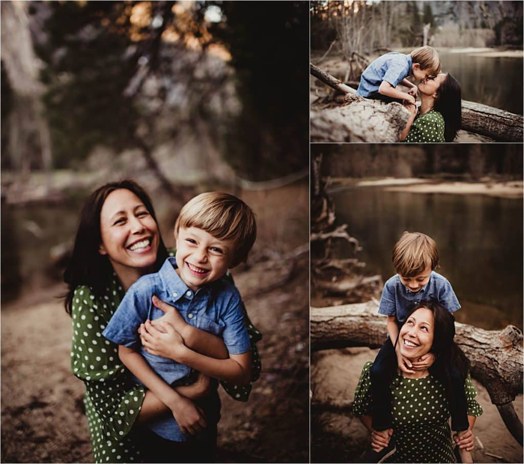 Mama and Son Laughing