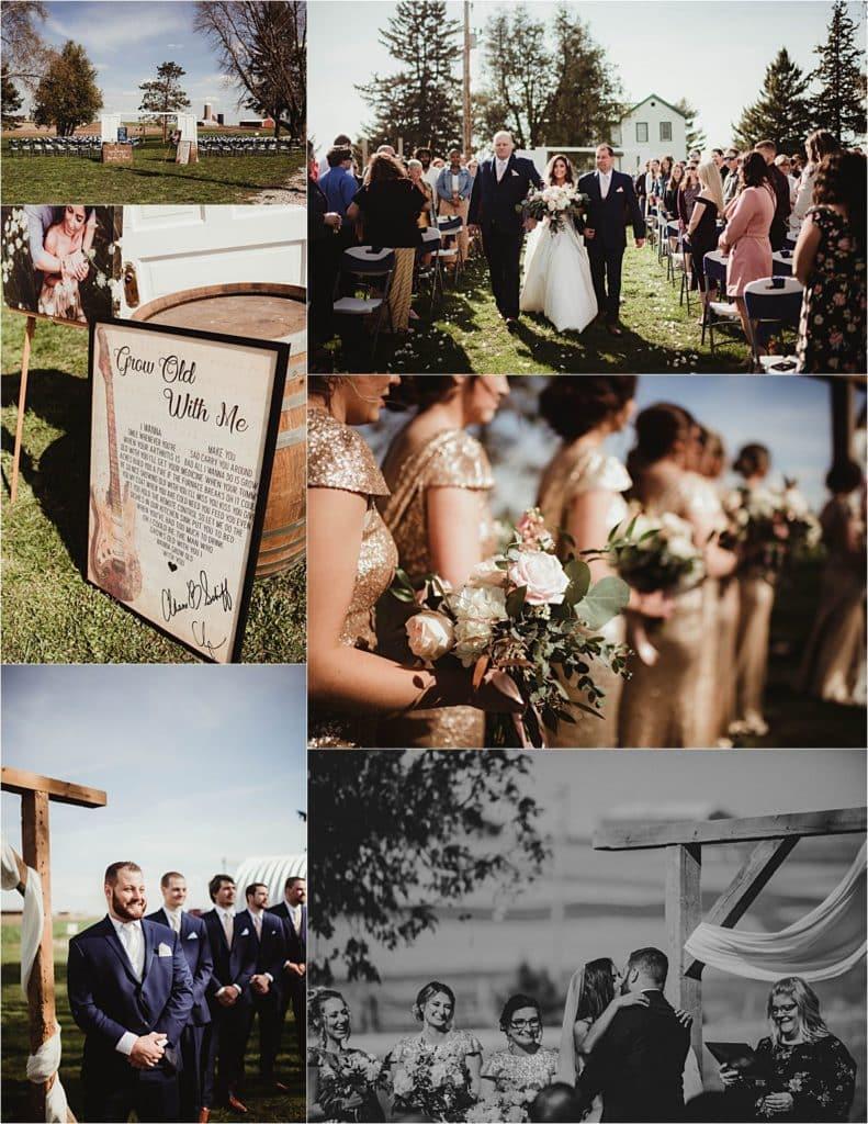 Rustic Chic Spring Wedding Ceremony