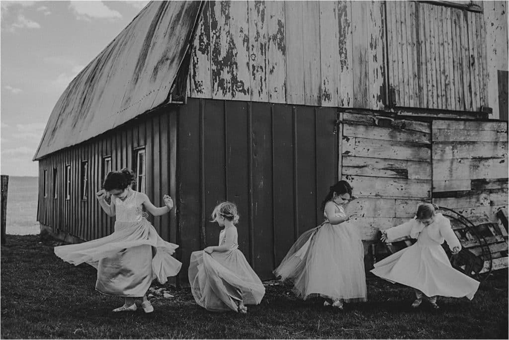 Flower Girls Twirling