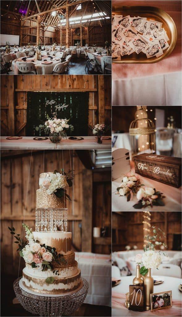 Rustic Chic Spring Wedding Reception Details