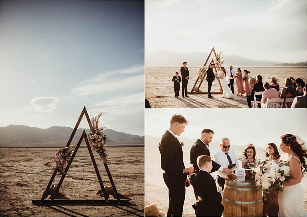 Windblown Desert Spring Wedding Ceremony