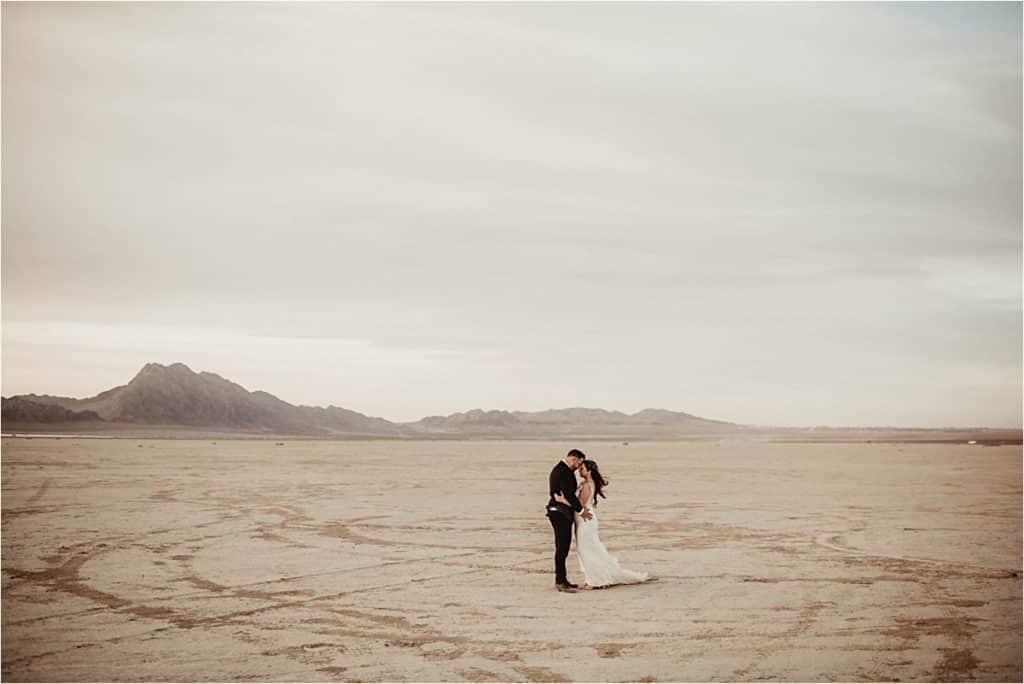 Bride Groom Desert
