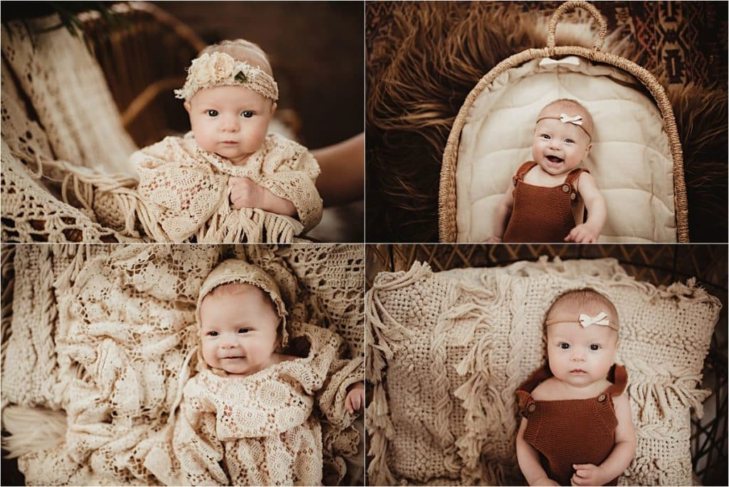 Collage Baby Girl in Lace
