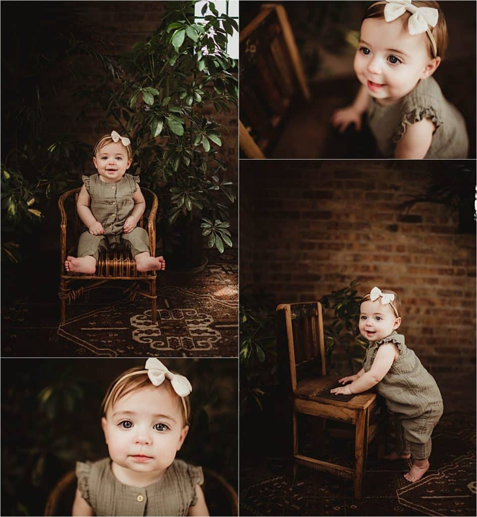 Collage Girl on Chair