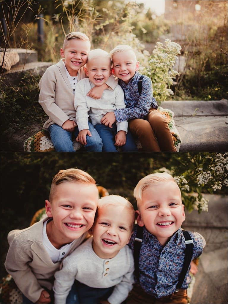 Three Brothers Smiling