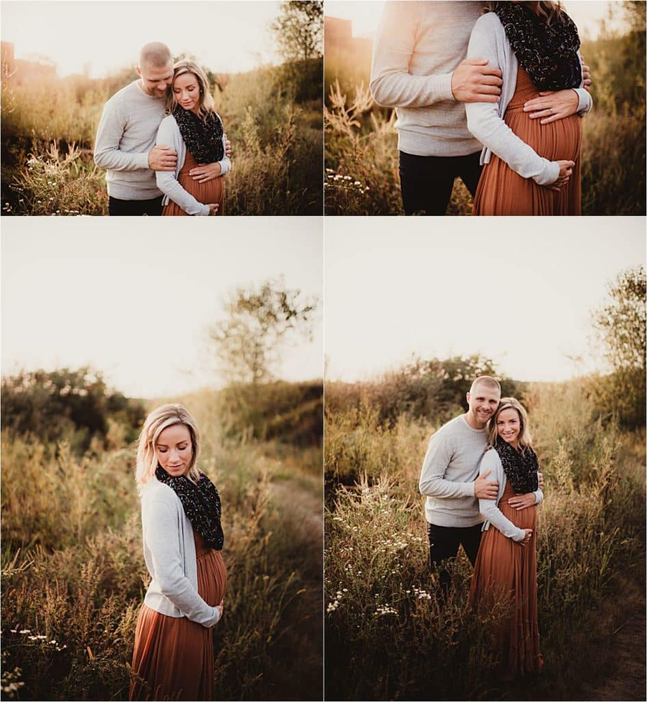 Family Maternity Session Couple