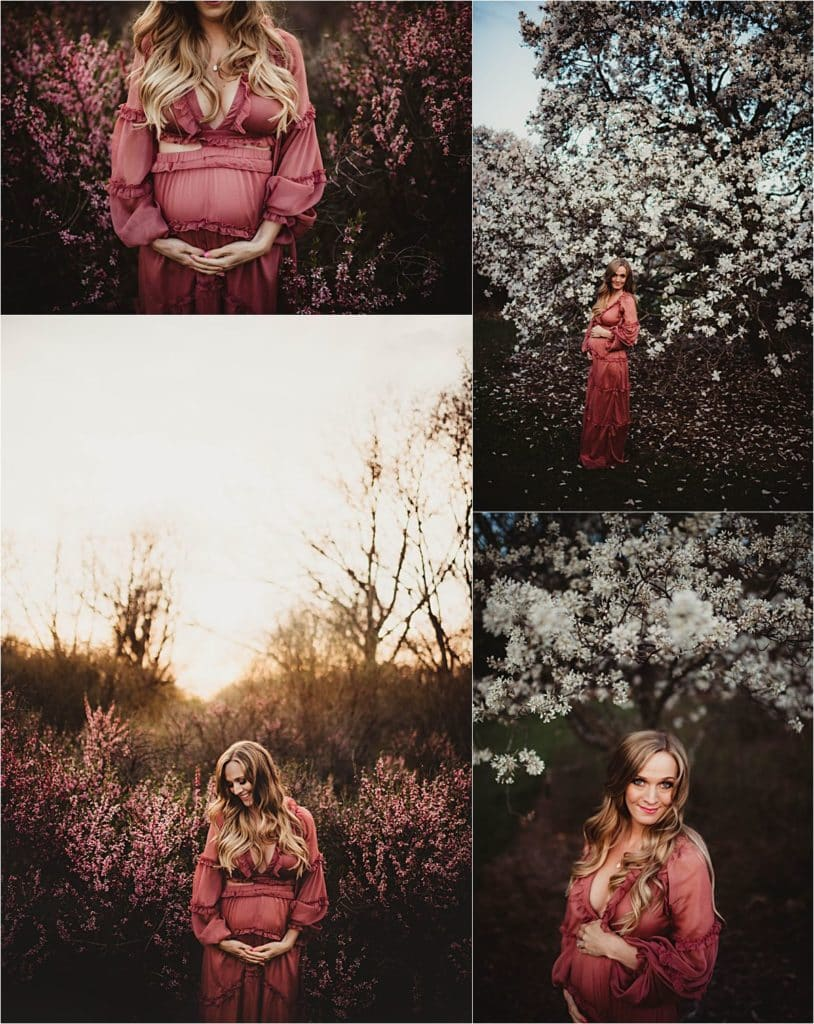 Spring Maternity Session Mama Collage