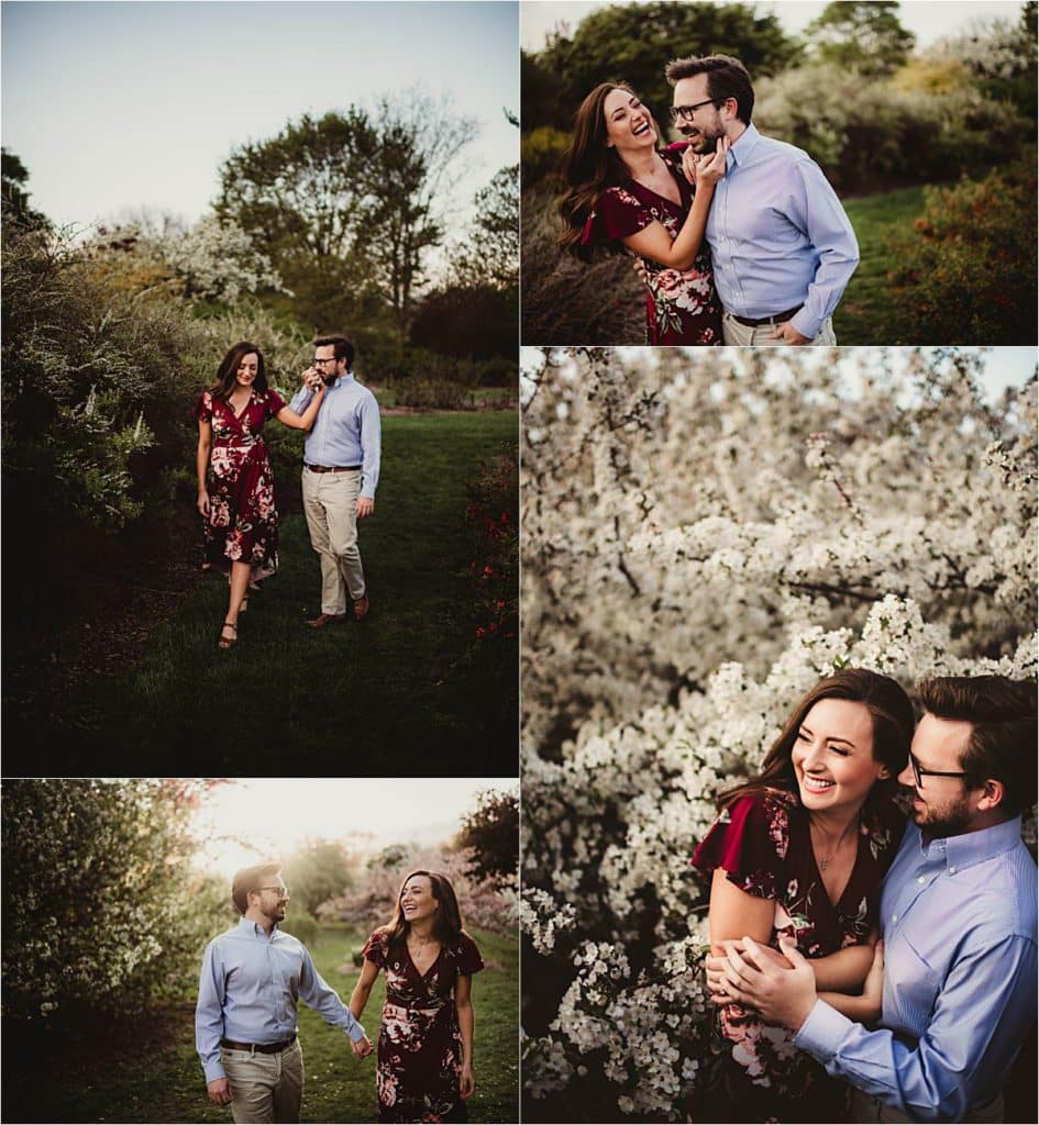 Engagement Photography Session Couple in Blooms