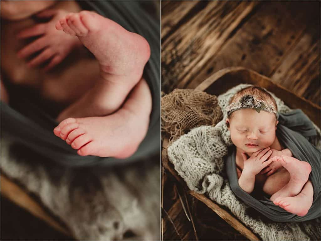 Close Up Newborn Feet
