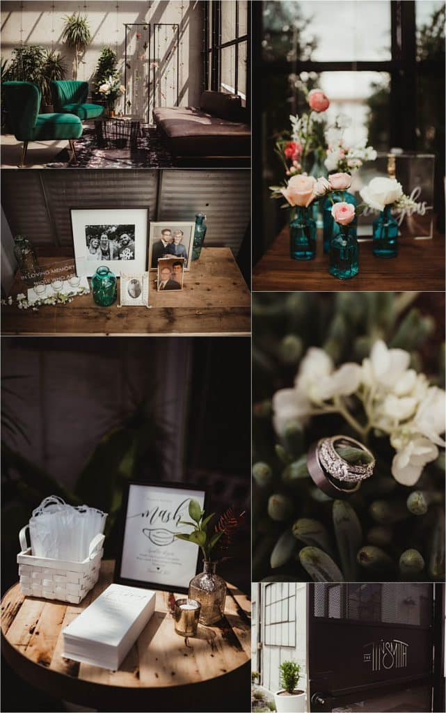 Industrial Chic Summer Wedding Details