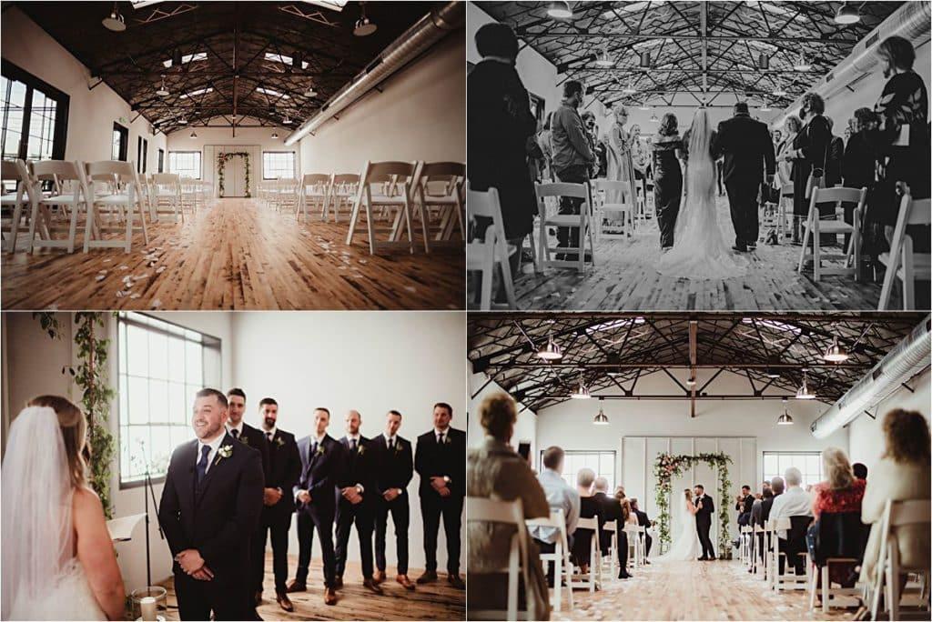 Industrial Chic Summer Wedding Ceremony
