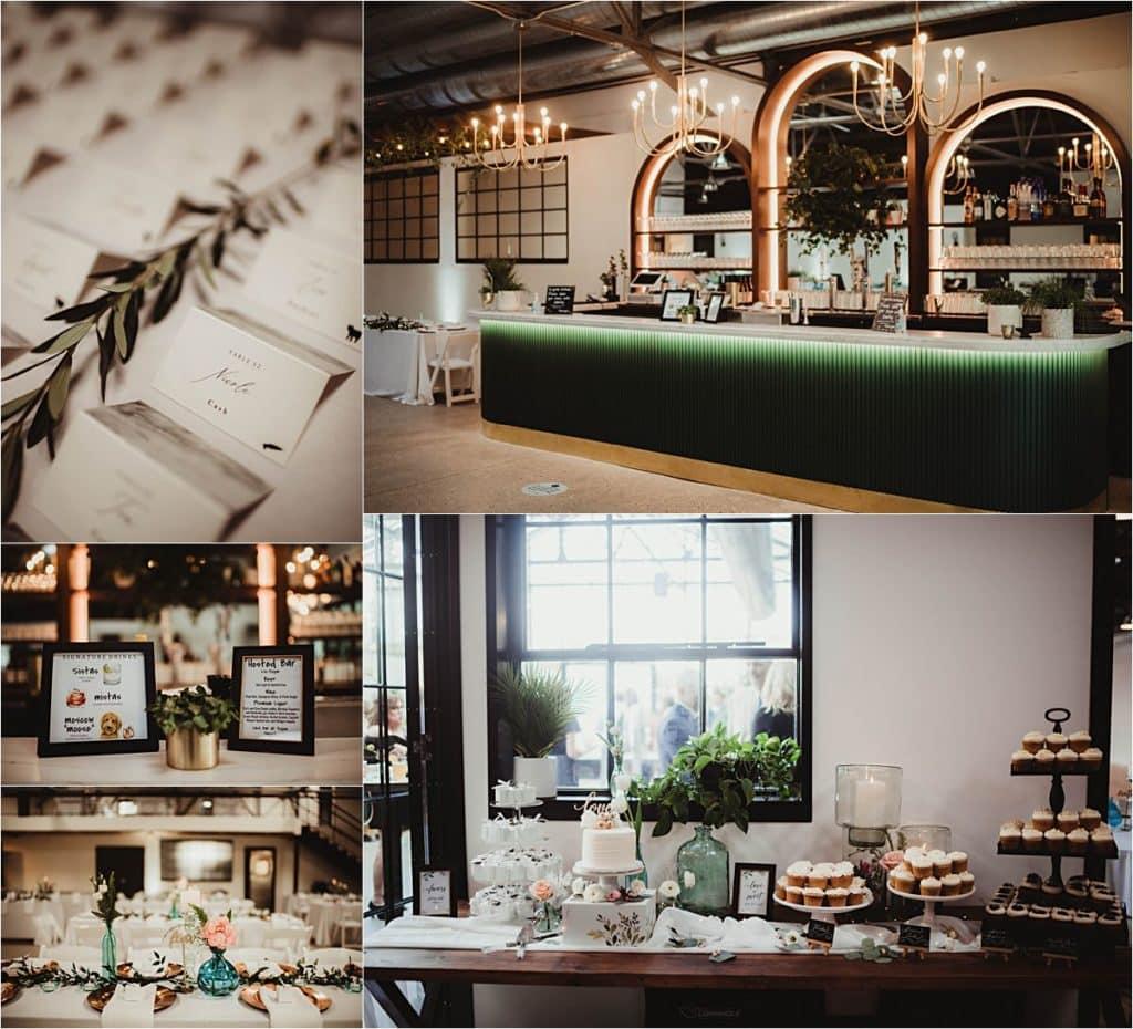 Industrial Chic Summer Wedding Reception Details