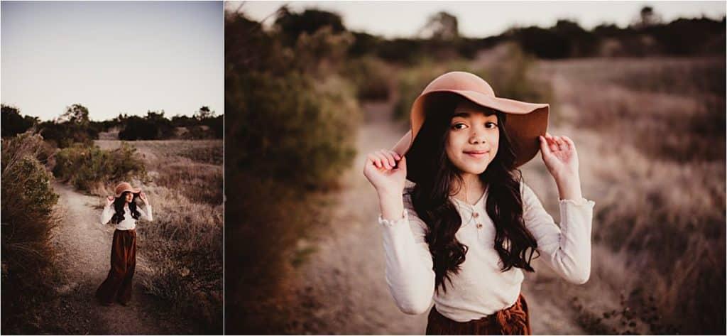 California Family Session Little Girl in Hat