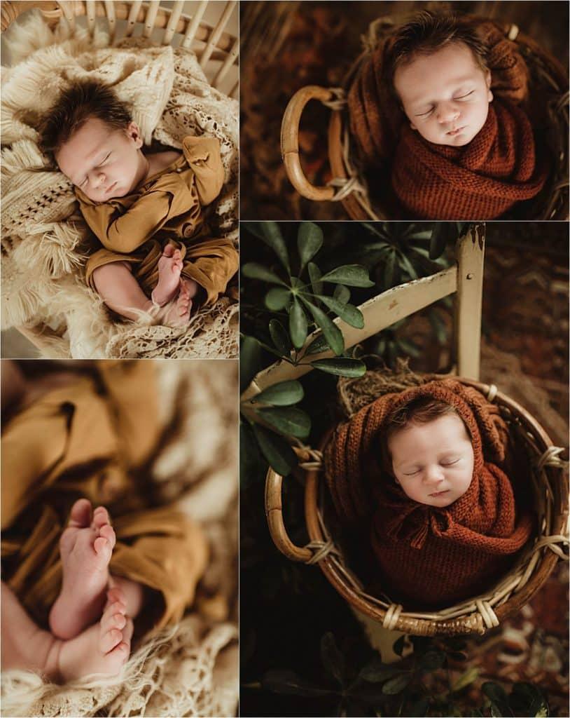 Newborn Boy Photography Session Collage Newborn Boy