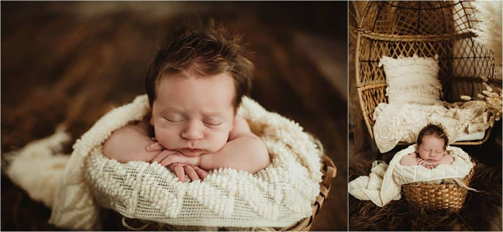 Newborn in Ivory Wrap