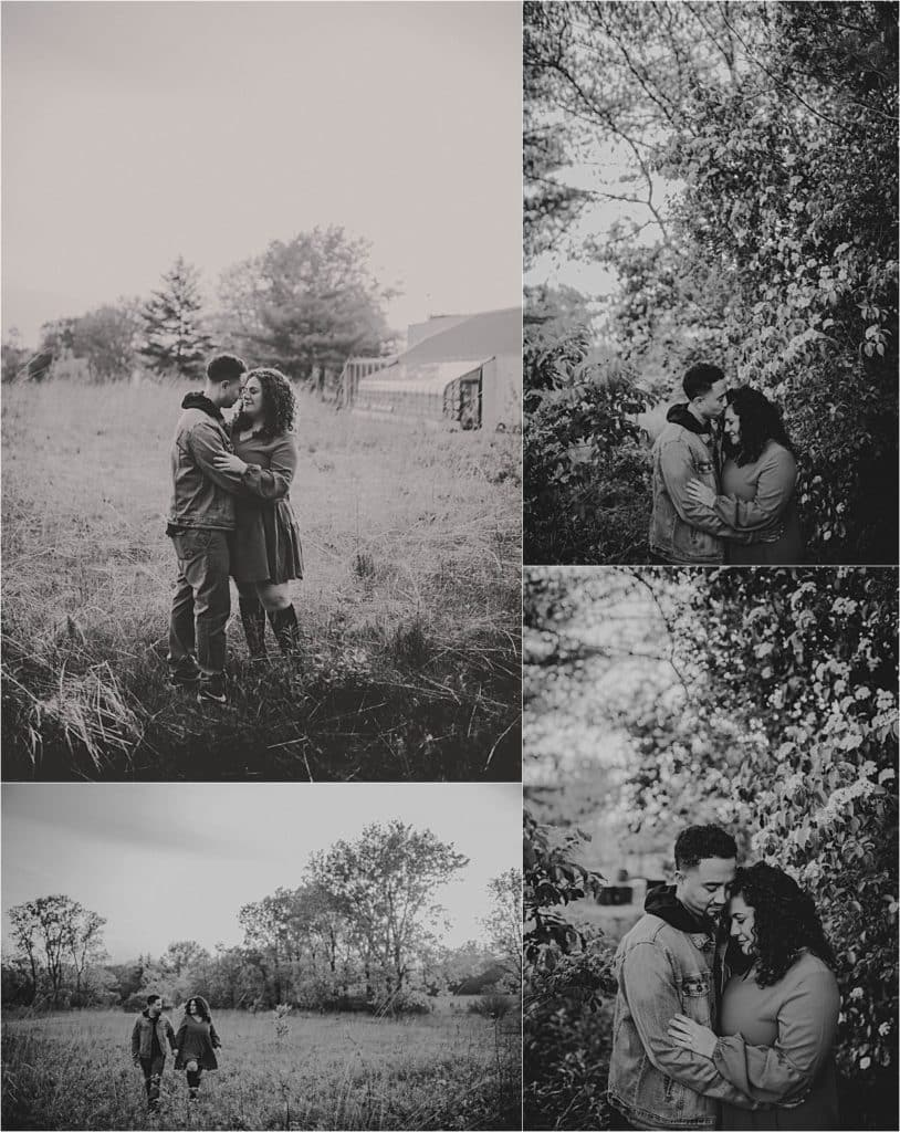 Spring Couples Portrait Session Couple Snuggling in Field