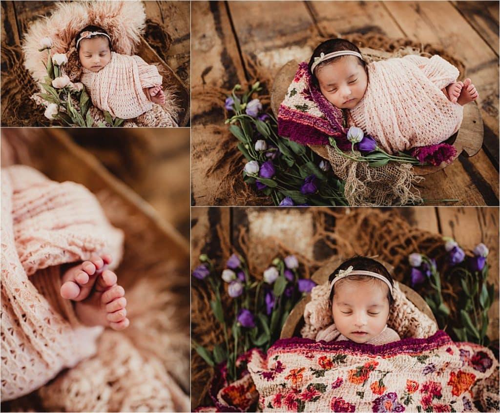 Collage Newborn in Pink