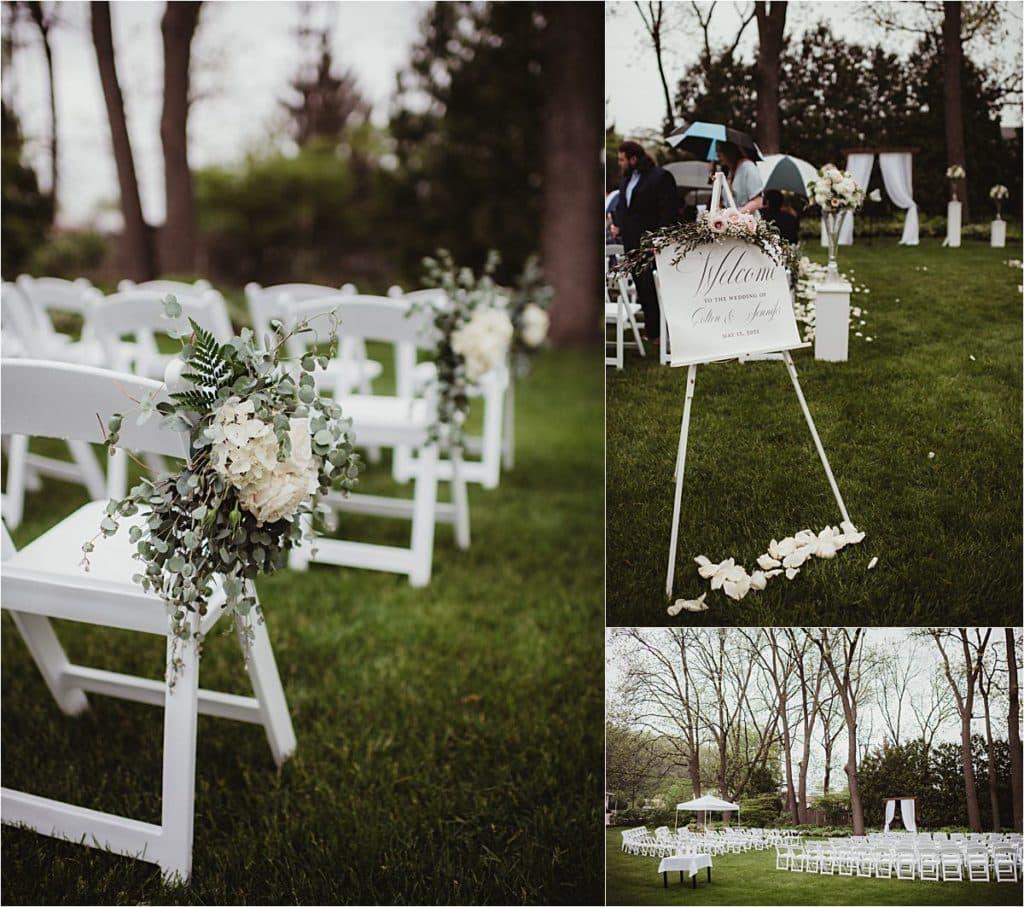 Blush and Ivory Wedding Ceremony Details