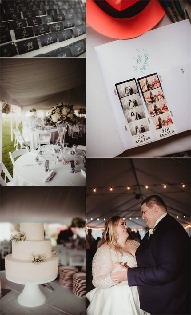 Blush and Ivory Wedding Reception Details and First Dance