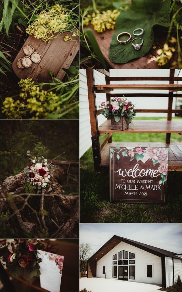 Cranberry Mauve and Blush Wedding Details