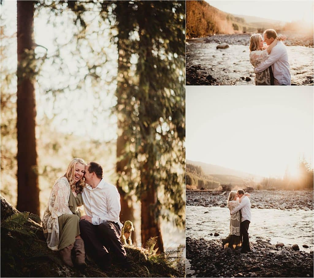 Picturesque Mountain Family Session Collage Couple at Sunset