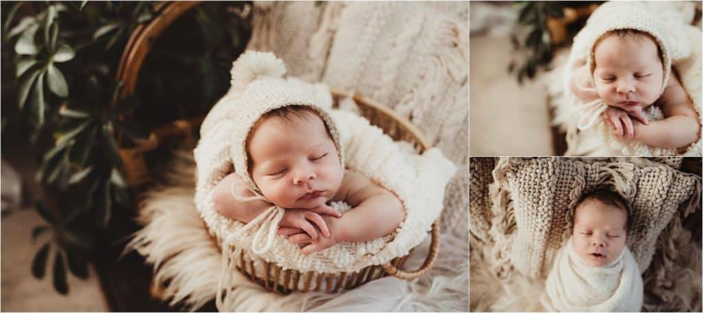 Newborn in White Wraps