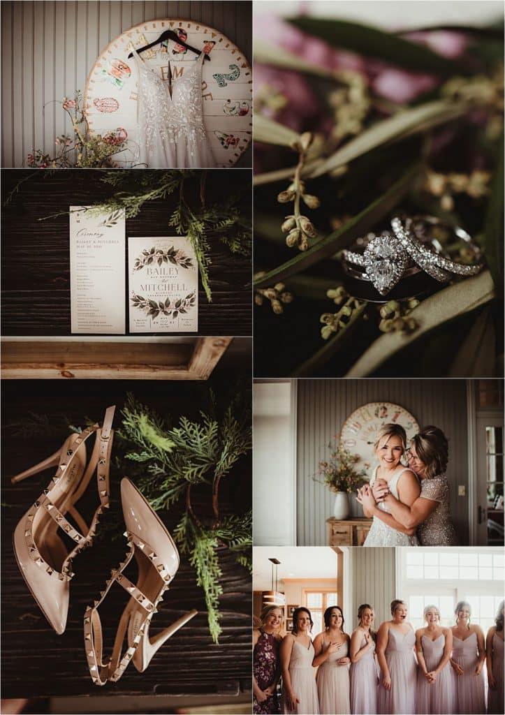 Romantic Rural Wedding Getting Ready Details