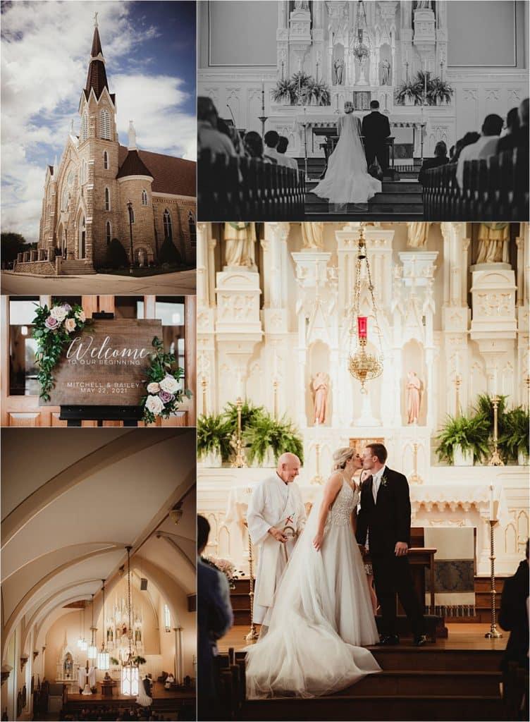 Romantic Rural Wedding Church Ceremony