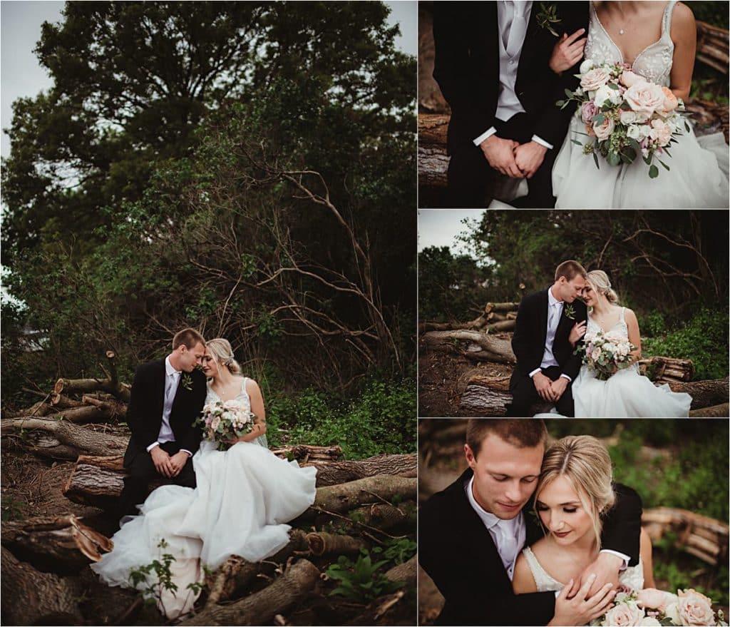 Romantic Rural Wedding Collage Bride Groom