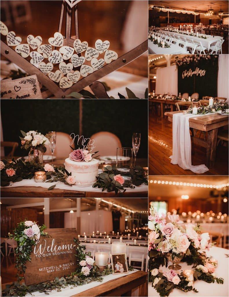 Romantic Rural Wedding Reception Details