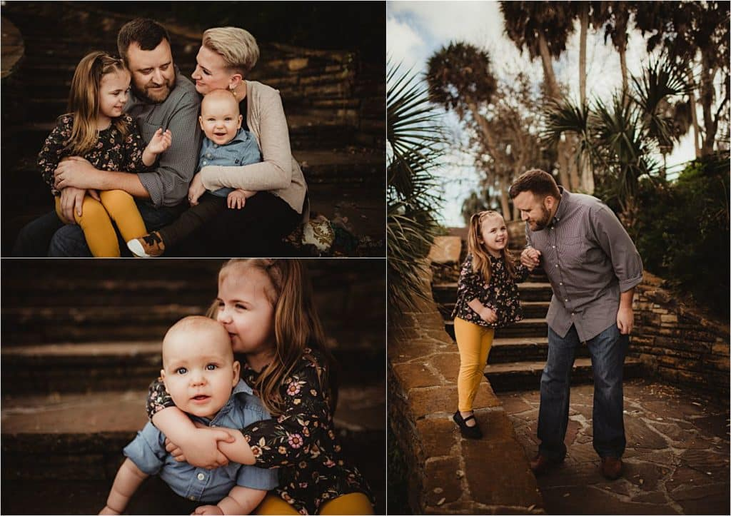 Bay View Family Session Collage Family Snuggling