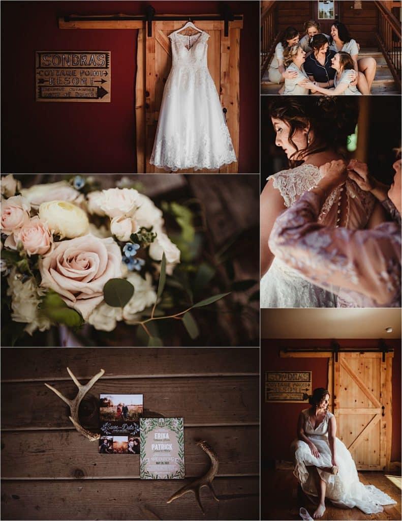 Elegant and Rustic Bride Getting Ready