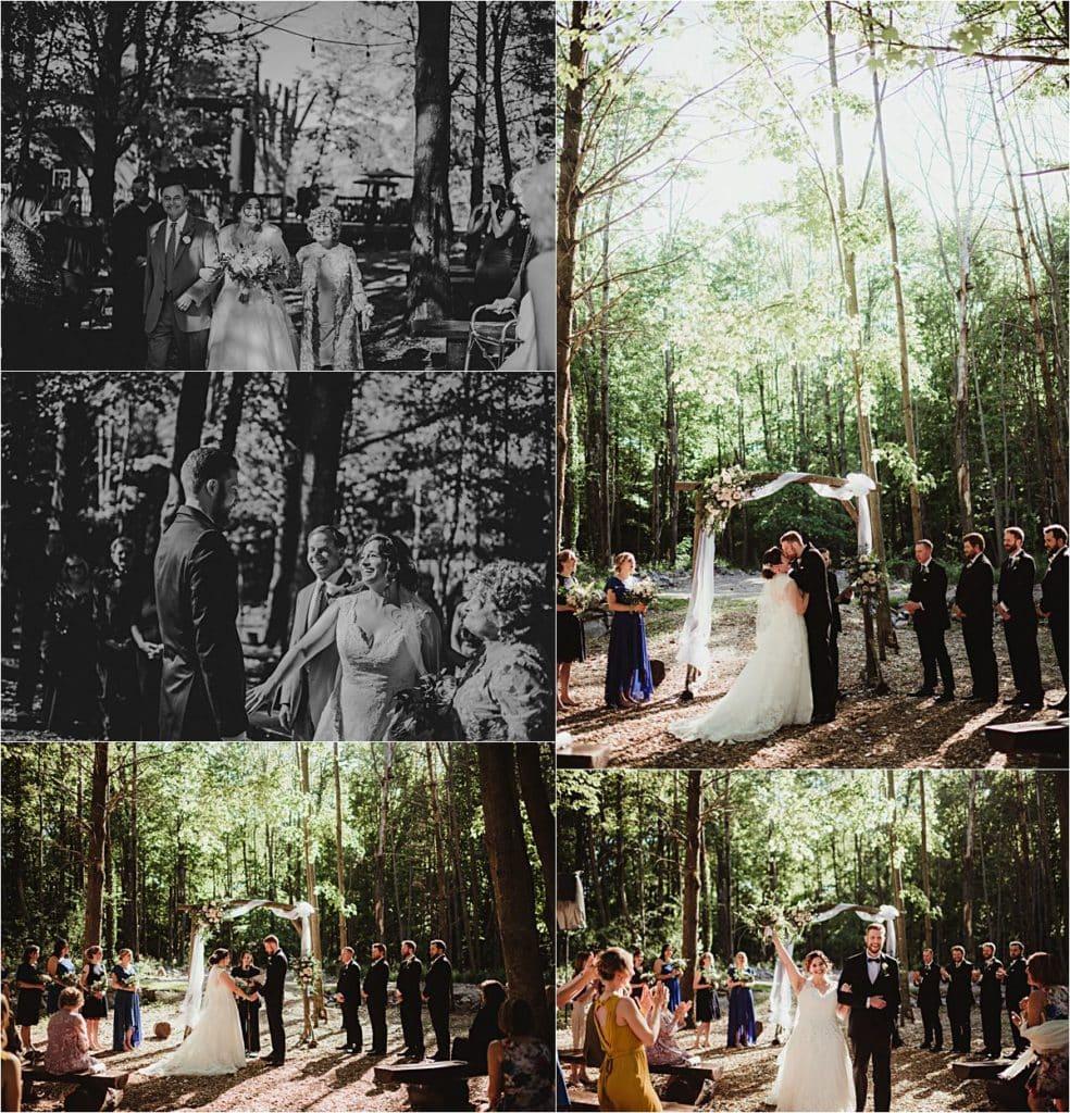 Elegant and Rustic Wedding Ceremony
