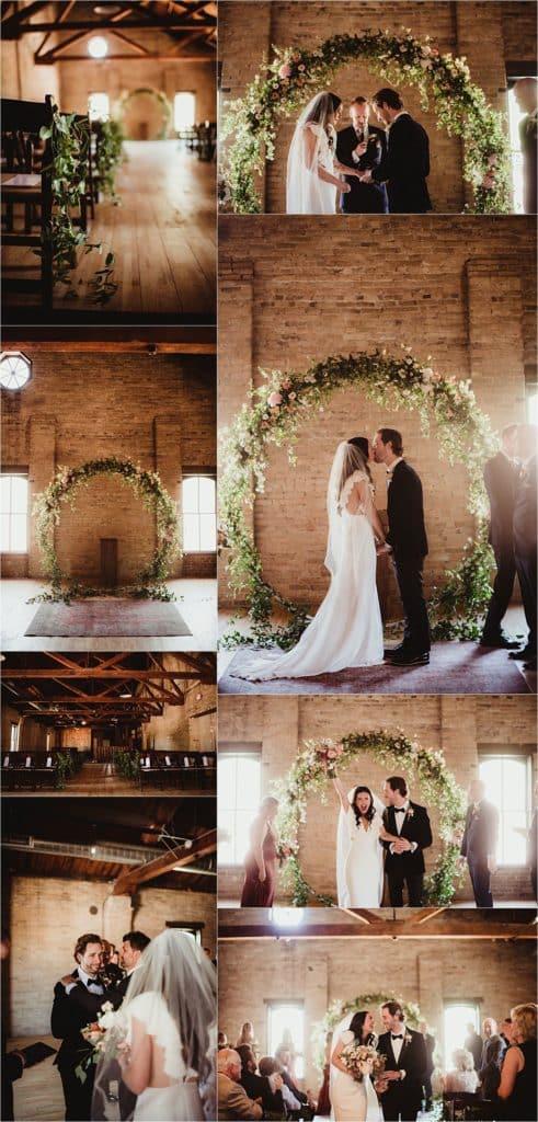 Blush and Terracotta Palette Wedding Ceremony