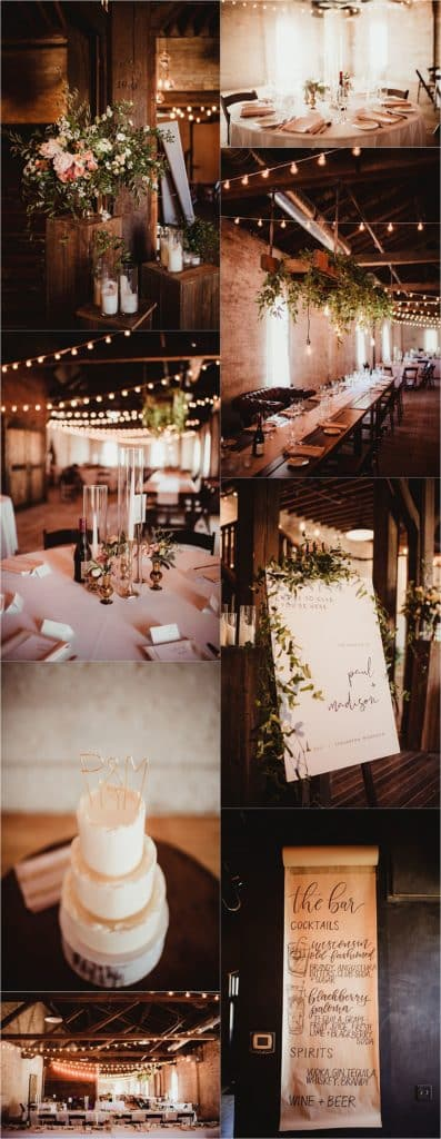 Blush and Terracotta Palette Reception Details
