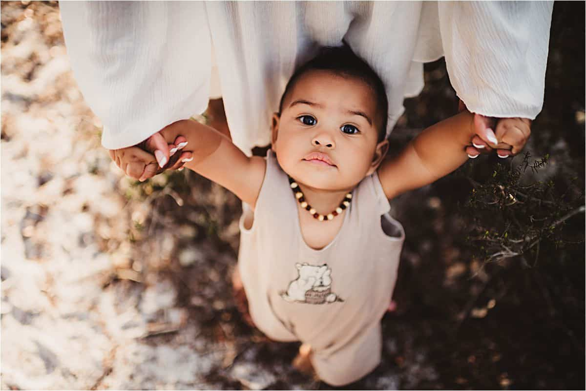 Baby Boy Looking Up