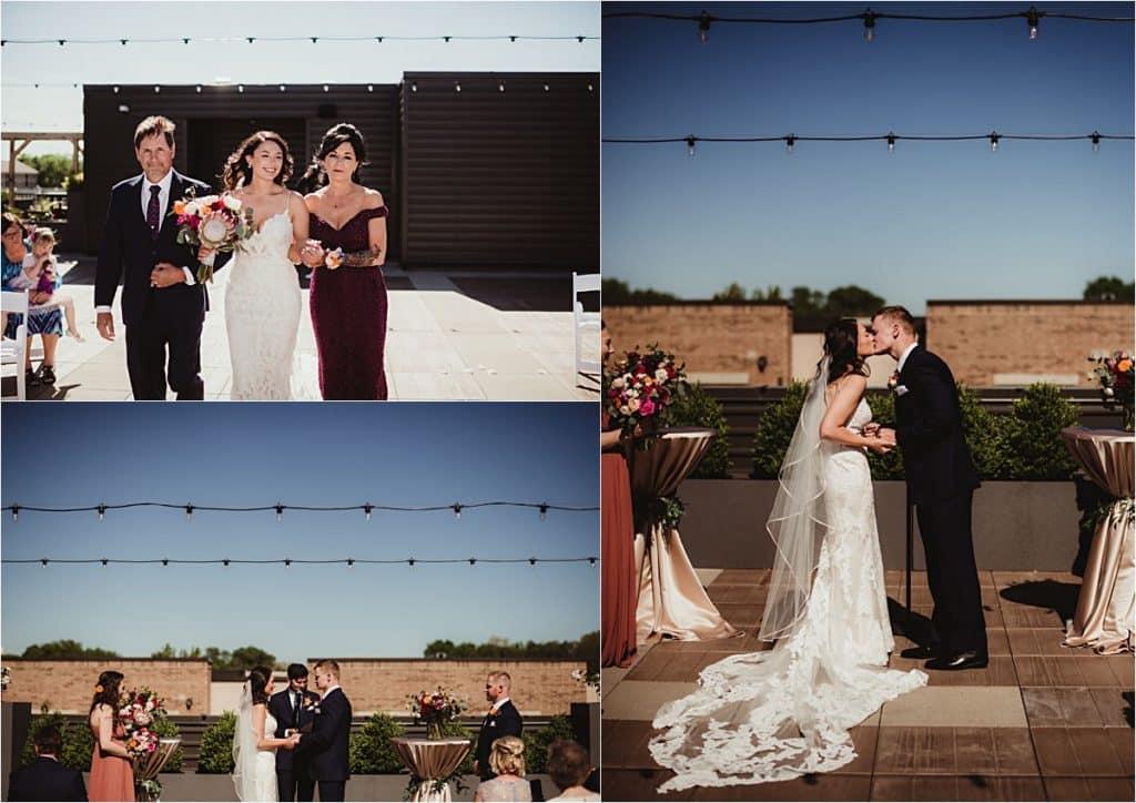 Spring Rooftop Wedding Ceremony
