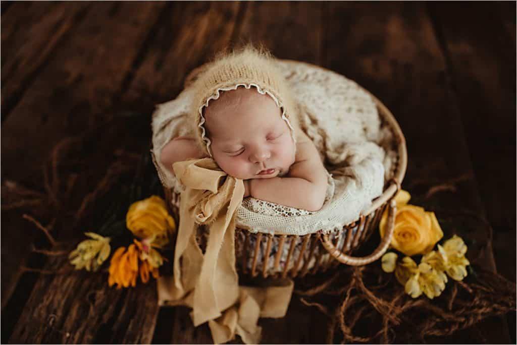 Newborn Girl in Yellow