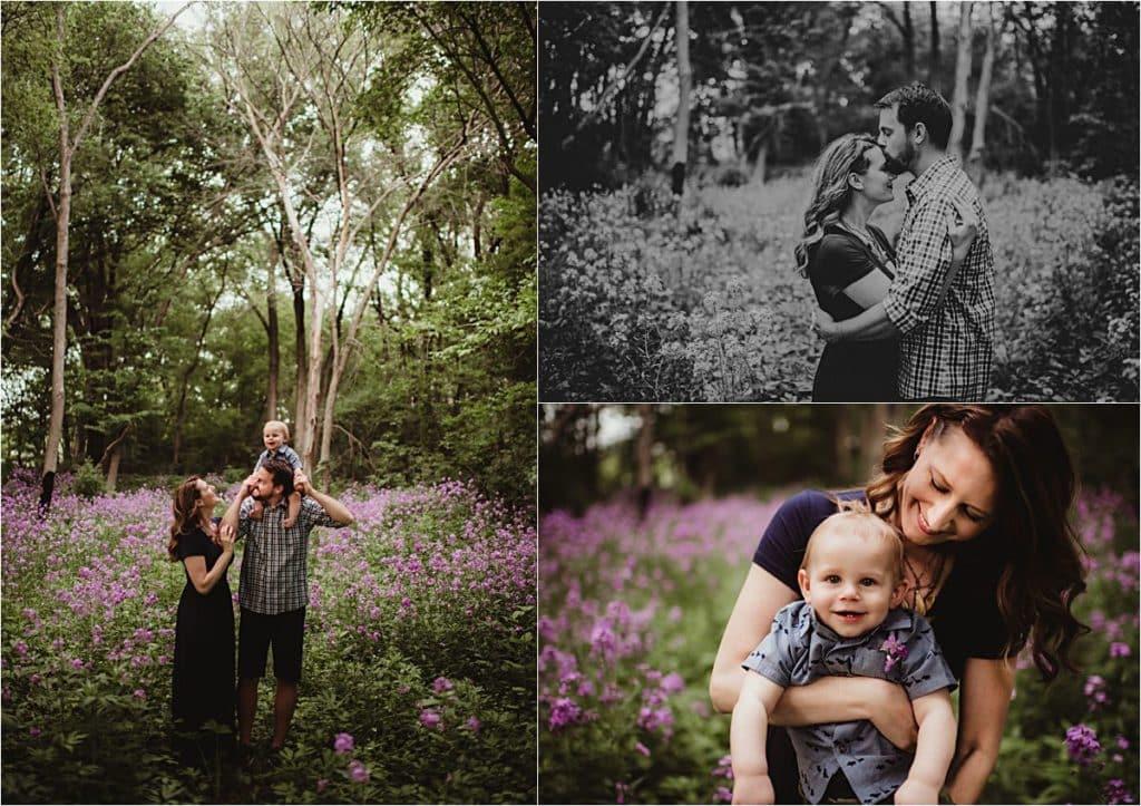 Flower Field Session Family in Field