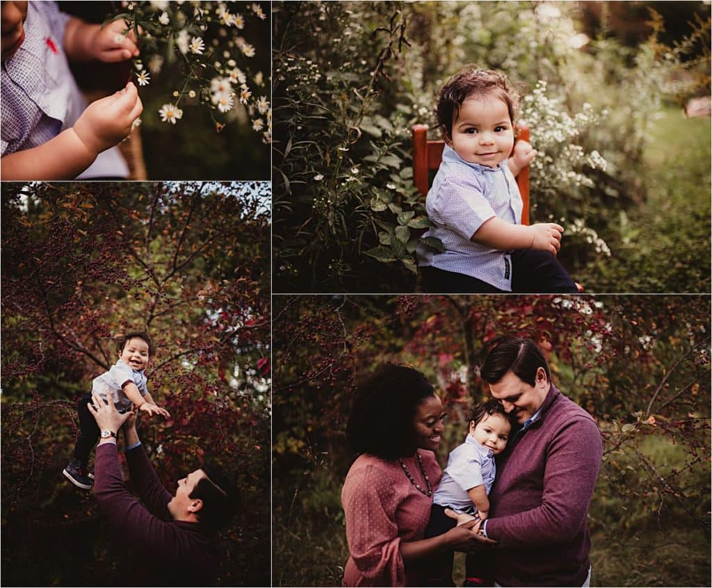 Family Session Collage Baby with Parents